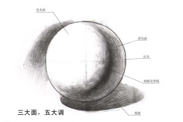 素描画椭圆步骤