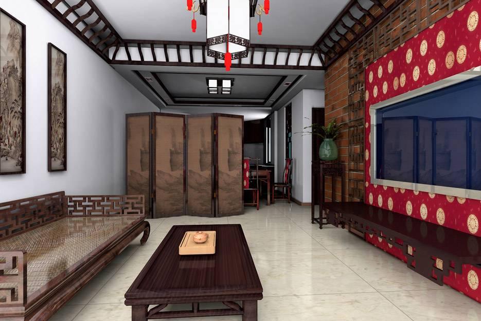 中国古典风格: 中国传统的室内设计融合了庄重与优雅双重气质。例如,厅里摆一套明清式的红木家具,墙上挂一幅中国山水画等,传统的书房里自然少不了书柜、书案以及文房四宝。中式的客厅具有内蕴的风格,为了舒服,中式的环境中也常常用到沙发,但颜色仍然体现着中式的古朴,这.
